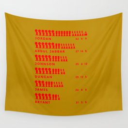 Legends Statistic Wall Tapestry
