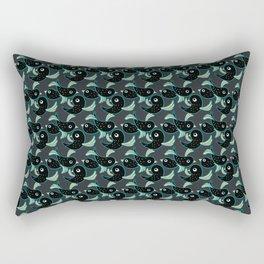 Birds - Darkslategray Rectangular Pillow