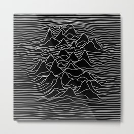 Black and white illustration - sound wave graphic Metal Print