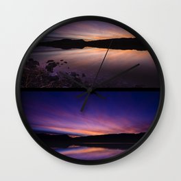 Pahranagat National Wildlife Refuge Sunsets - NV Wall Clock