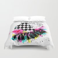 clown Duvet Covers featuring Clown by by_dinahartandi