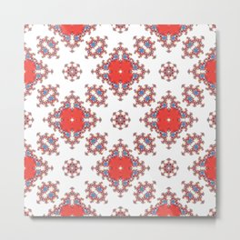 Red and white pattern Metal Print