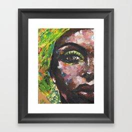 Brown Study Framed Art Print