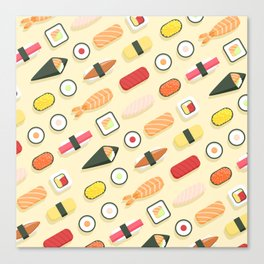 Sushi Pattern Canvas Print