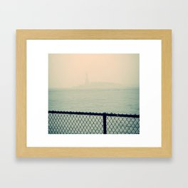 Hazy Liberty Framed Art Print