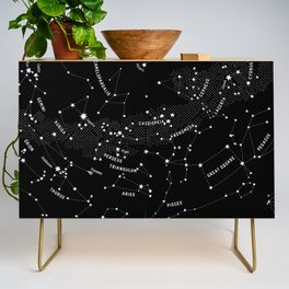 Constellation Map - Black Credenza