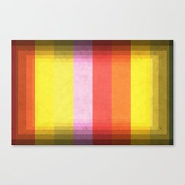 Warm Color Stripes Canvas Print
