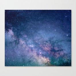 Milky Way Stars (Starry Night Sky) Canvas Print