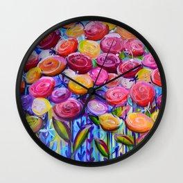 Ranunculus Horizon Wall Clock