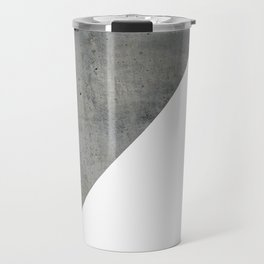 Concrete Vs White Travel Mug