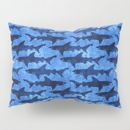 Sharks in the Blue, Blue Sea Pillow Sham