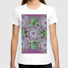SUCCULENTS GARDEN IN MAUVE PURPLE ART T-shirt