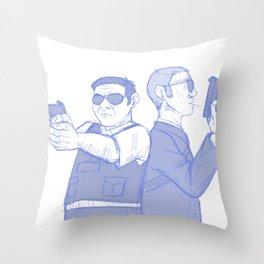 hot fuzz Throw Pillow