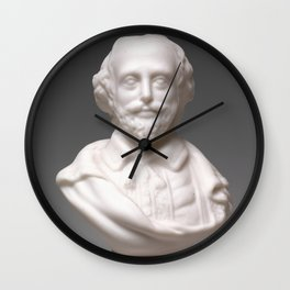 Vintage William Shakespeare Sculpture Photograph (1870) Wall Clock