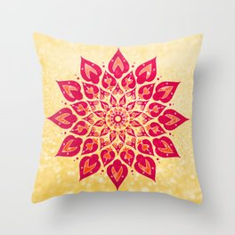 Mandala Savasana Throw Pillow