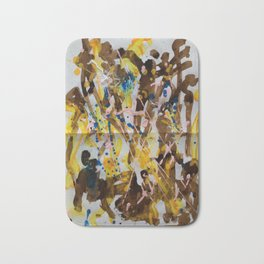 Abstract casting motive I Bath Mat