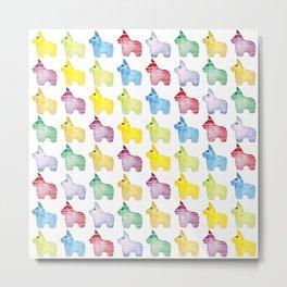 Festive Pinata Pattern Metal Print