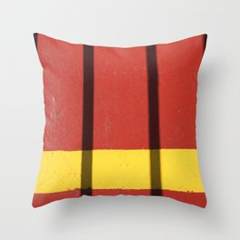 Boat deck impressions Throw Pillow