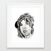 stevie nicks Framed Art Prints featuring Stevie Nicks - Fleetwood Mac by Stu_JH_88