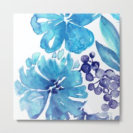Abstract floral & square #7 Metal Print