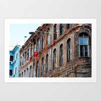 istanbul Art Prints featuring Istanbul by cArt