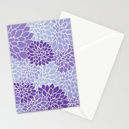 Ultra Violet Lavender Dahlias Stationery Cards