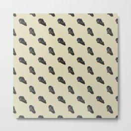 Tawny Frogmouth Tiles Metal Print