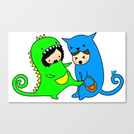 Rawr Learns to protect herself Canvas Print