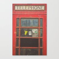 telephone Canvas Prints featuring Telephone by Benjamin Robles Art