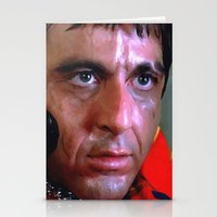 scarface Stationery Cards featuring Al Pacino @ Scarface #1 by Gabriel T Toro