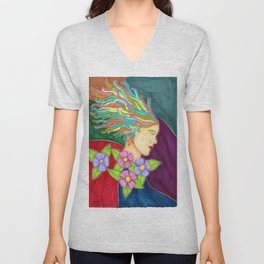 rays of sun rays of colors Unisex V-Neck