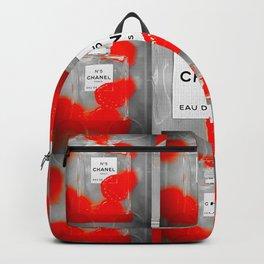 No 5 Red Splash Backpack