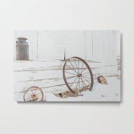 Dreamy Wagon Wheel Metal Print