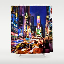 Times scuare Shower Curtain
