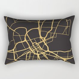 NASHVILLE TENNESSEE GOLD ON BLACK CITY MAP Rectangular Pillow