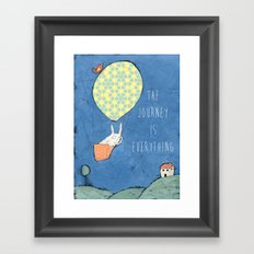 The Journey is Everything Framed Art Print