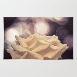 Sexy White Rose Rug