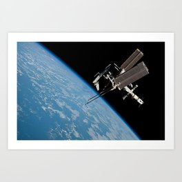 The International Space Station and the Docked Space Shuttle Endeavour Art Print