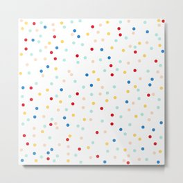Sprinkles Pattern | Rainbow Texture | Polka Dot Home Decor | Christmas Metal Print