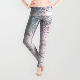 Magical Iridescent Glitter Feathers Dreamcatcher Leggings