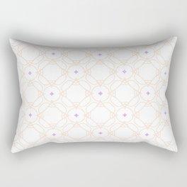 Purple & Beige Pattern Rectangular Pillow