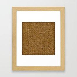 Vintage Burlap Texture Framed Art Print