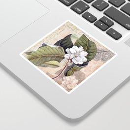 Vintage White Magnolia Sticker