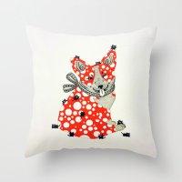 corgi Throw Pillows featuring Corgi. by ruffgaws