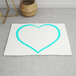 Heart outlines, love, romantic Rug