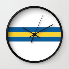 Leeds United Stripes Wall Clock