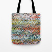 aztec Tote Bags featuring Aztec by Liz Moran