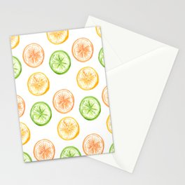 Citrus Trio: Lemon, Lime, and Orange Stationery Cards