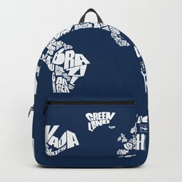 Adventure Is Out There - World Word Map with Travel Quote Backpack