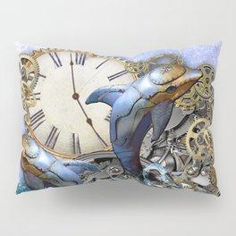 Steampunk Dolphin Time Pillow Sham
